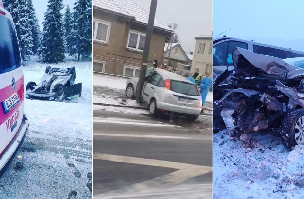Transpordiameti teede korrashoiu juhtivinsener avariirohkest päevast: kõik hooldepatrullid olid väljas