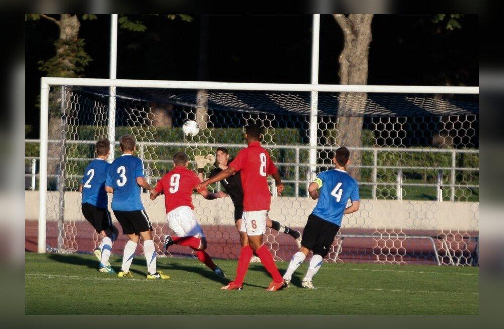 Eesti ja Inglismaa noortekoondiste jalgpall