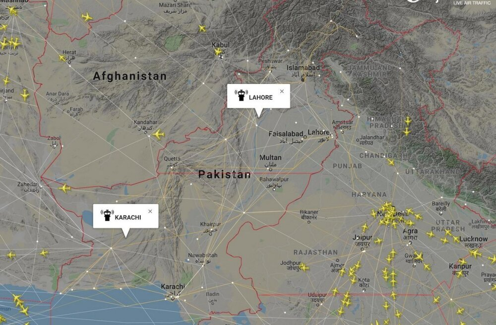 Pakistani õhuruum on teist päeva suletud, mis häirib tuhandeid tsiviillende üle maailma