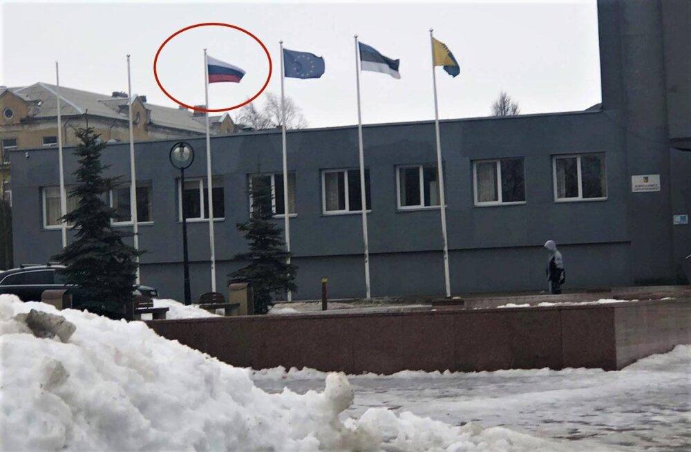 FOTO | Valimised lähenevad! Mailis Repsi kohta levis eksklik foto, et just tema pärast heisati Kohtla-Järvel Venemaa lipp