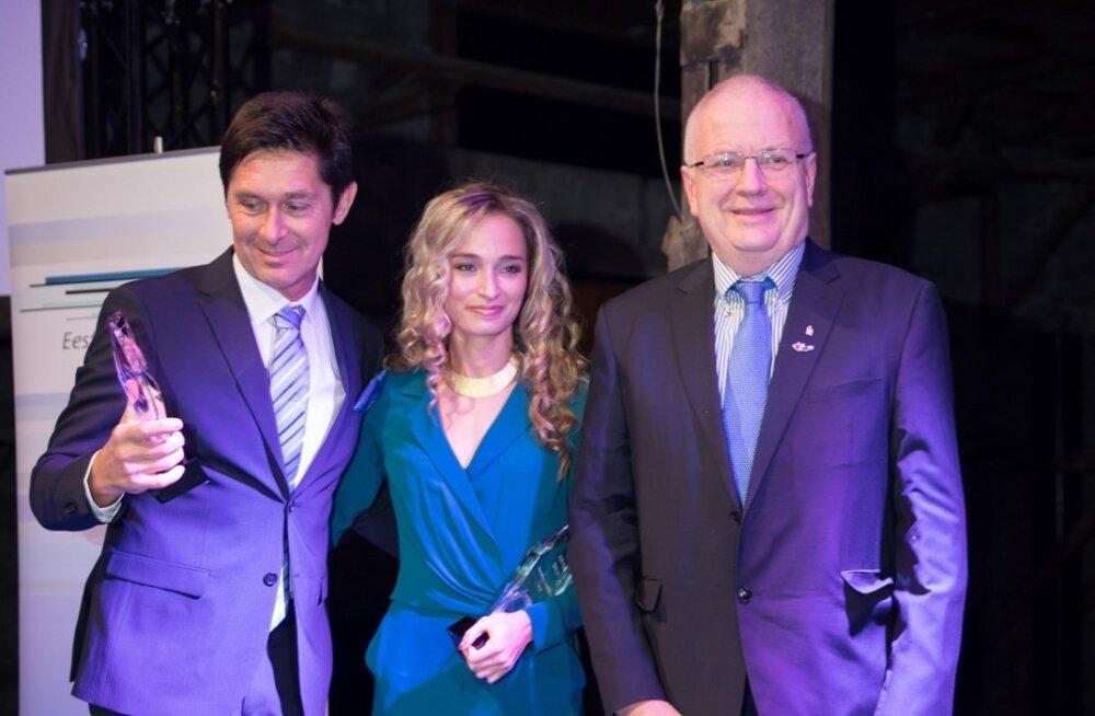 Andrei Nazarov, Ksenija Balta ja Euroopa Kergejõustikuliidu president Sven Arne Hansen