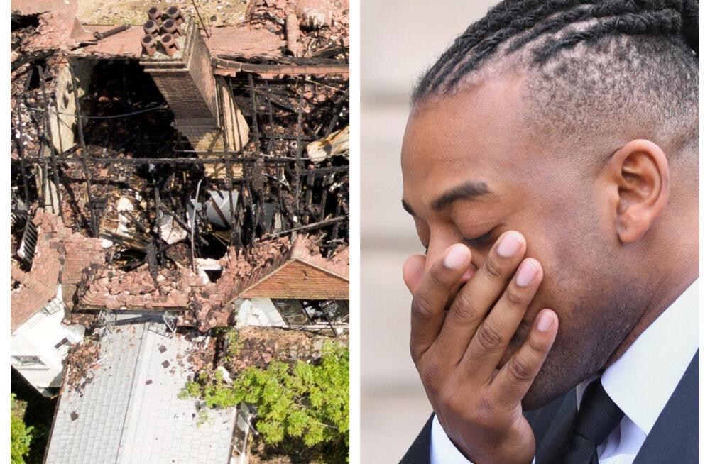 Õudus jätkub! Hiljuti jõhkrast süüdistusest vabanenud poistebändi staari maja põles maani maha