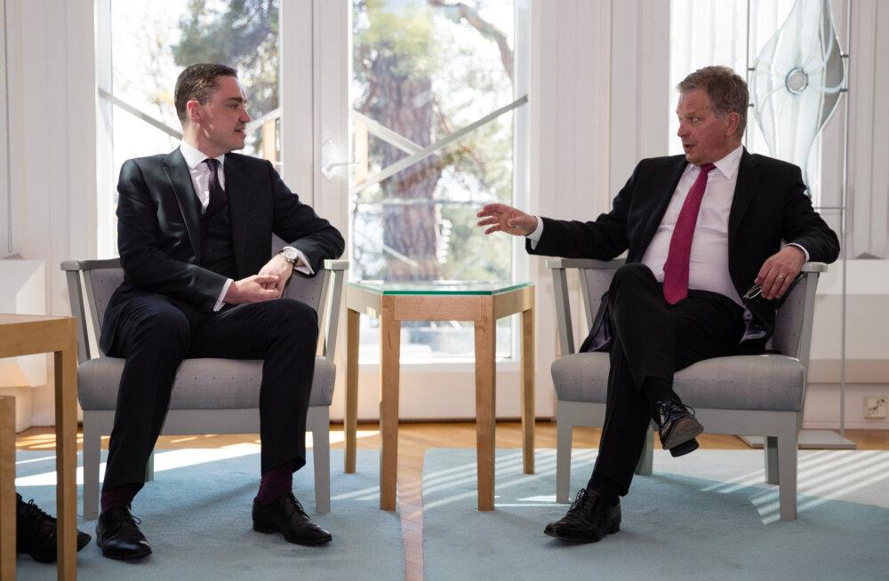 ФОТО: Рыйвас встретился с президентом Финляндии Саули Нийнистё