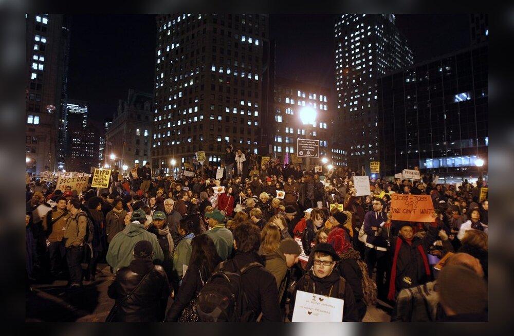 FOTOD ja VIDEO: Tuhanded avaldasid New Yorgis meelt rikaste võimu vastu