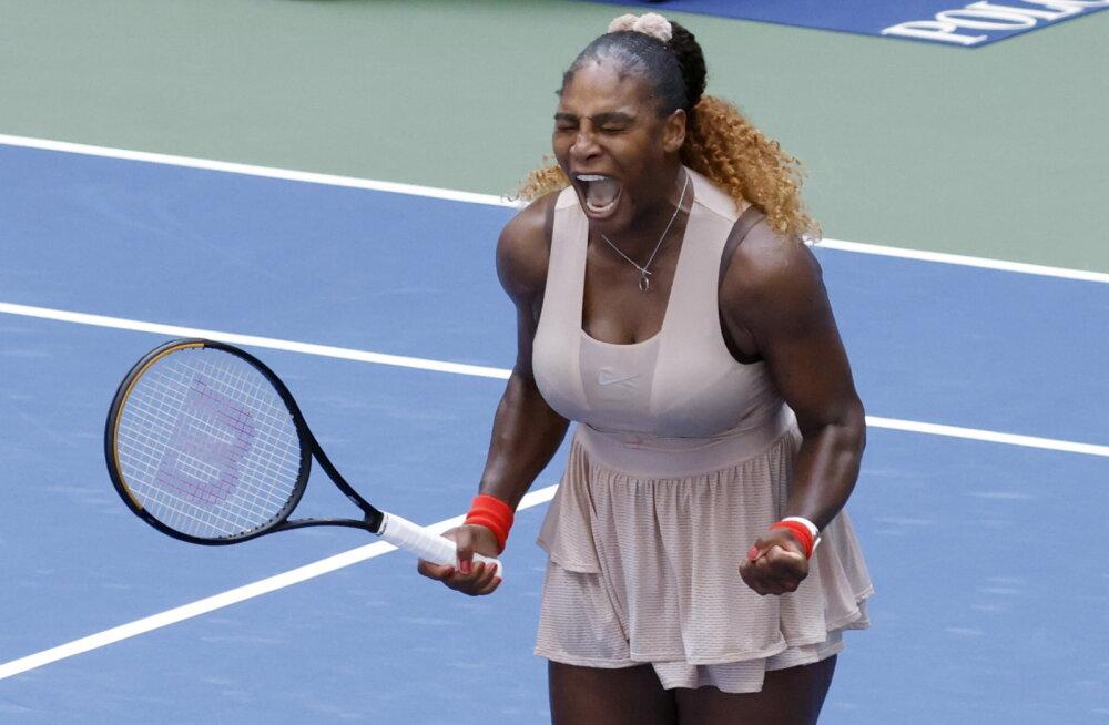 Raske võidu saanud Serena Williams pääses veerandfinaali