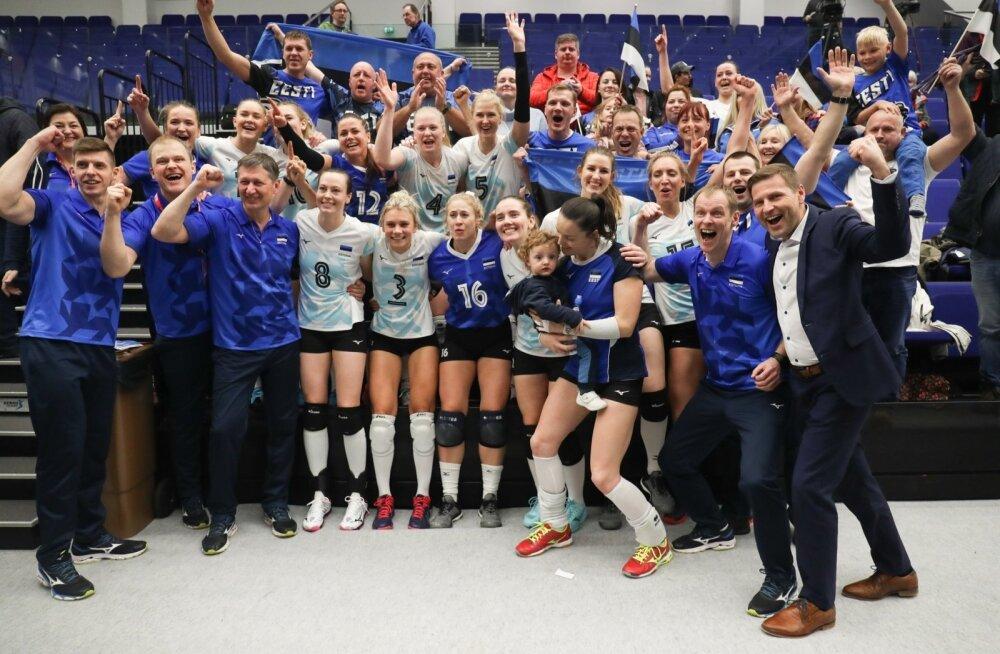 Eesti võrkpallinaiskond alistas Soome ja jõudis alagrupivõitjana EM-finaalturniirile