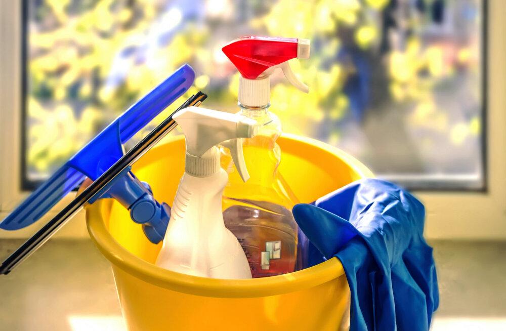 akende pesemine, aknapesu, koristamine