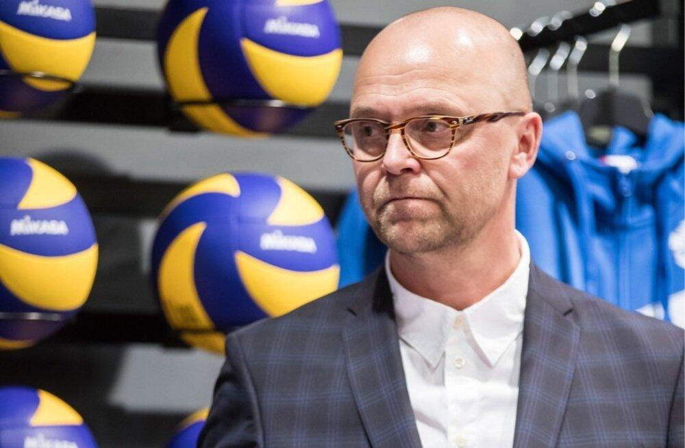 Võrkpallikoondise pressikonverents Ülemiste Sportlandis
