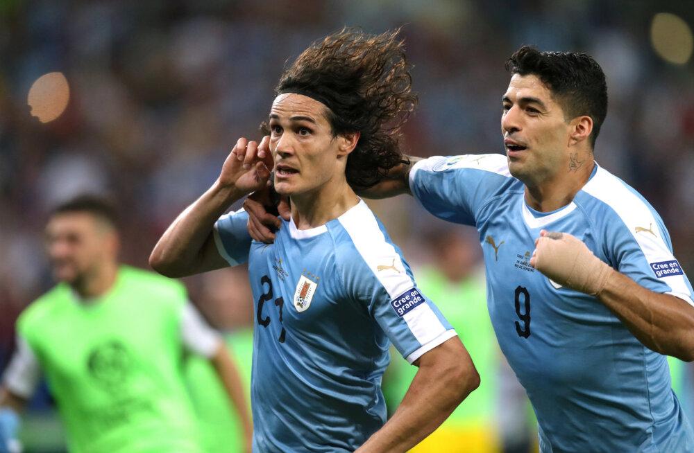 VIDEO | Cavani vedas Uruguay võidule Tšiili üle, selgunud on kõik veerandfinalistid