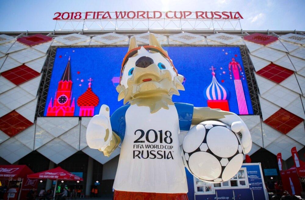 Melu enne Argentiina Islandi mängu Spartaki staadioni juures