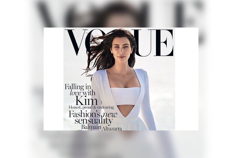 Kiika kaant: Kim Kardashian kaunistab veebruarikuus Austraalia Vogue'i esikülge läbikumavas seelikus!