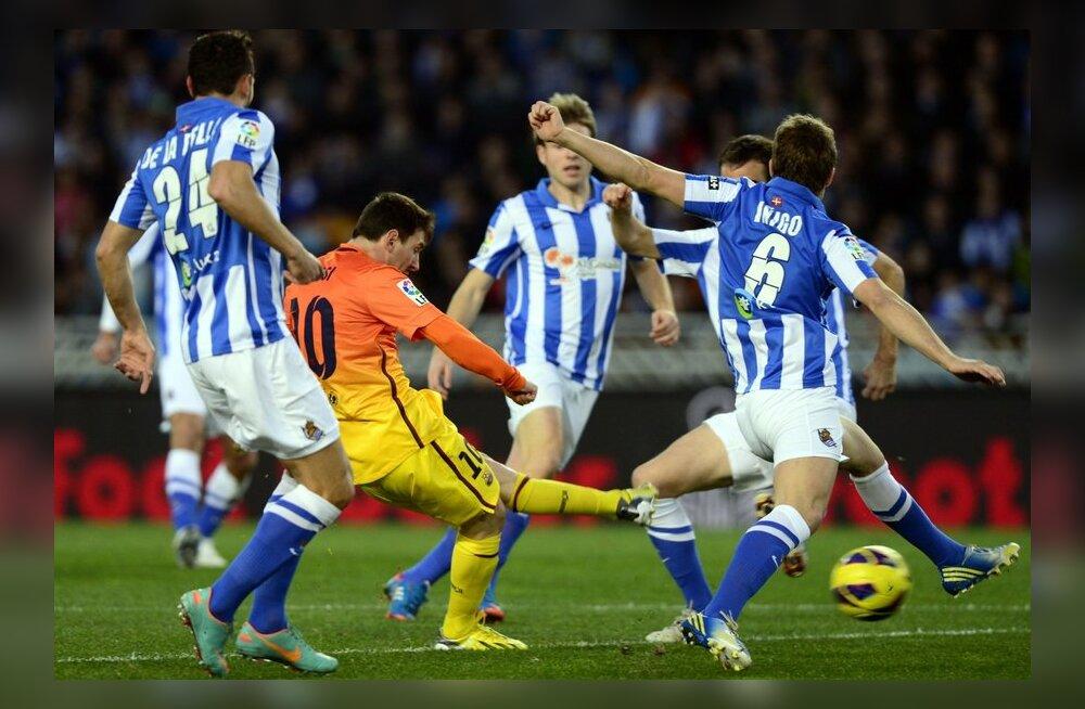 VIDEO: Real Sociedad šokeeris kümnekesi lõpetanud Barcelonat