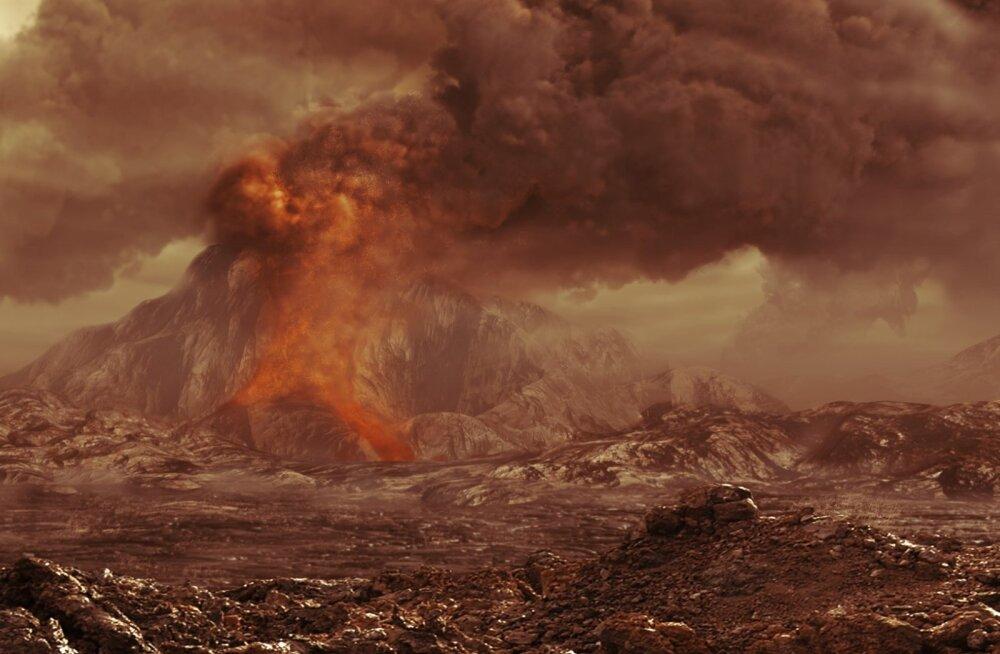 Veenusel täheldati tänase päevani aktiivselt purskavaid vulkaane