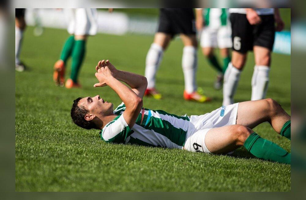 FC Flora mängija pole sooritusega rahul, jalgpall
