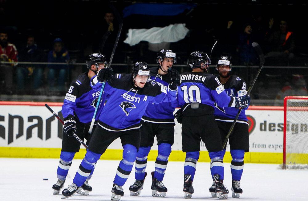 Eesti jäähokikoondis kogunes koduse rahvusvahelise turniiri eelseks laagriks