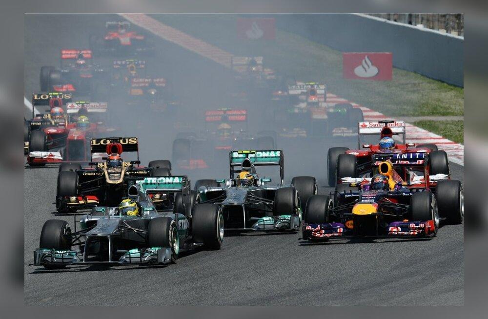 Vormel 1 Hispaania GP-etapi start