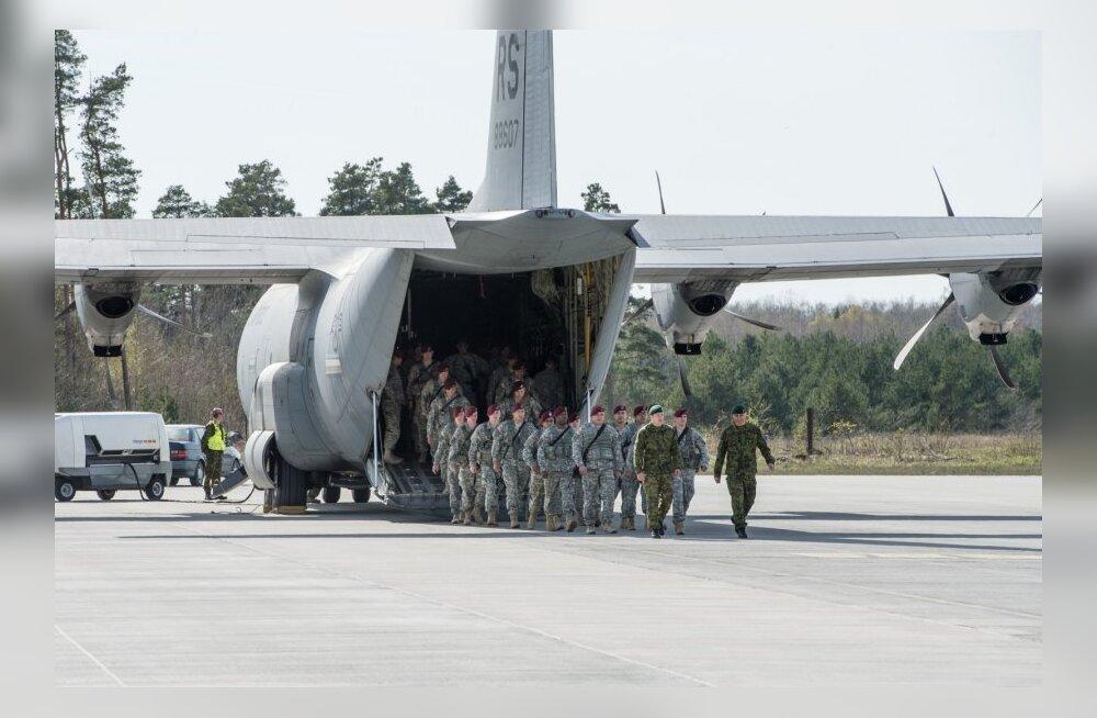 USA õhudessantkompanii saabumine Ämari lennubaasi