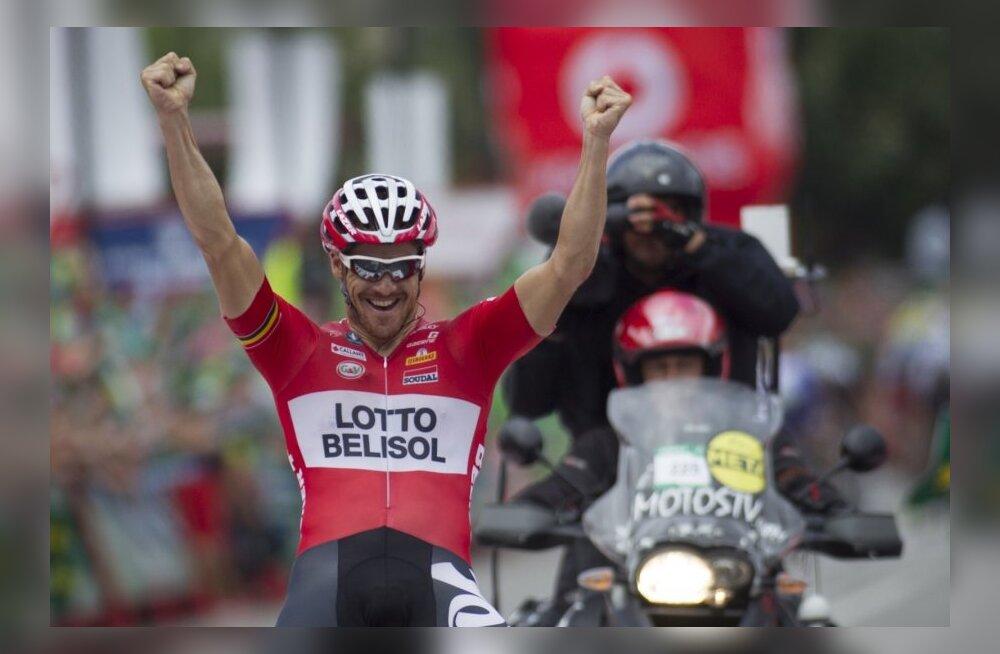 Vueltal etapivõidu saavutanud Adam Hansen