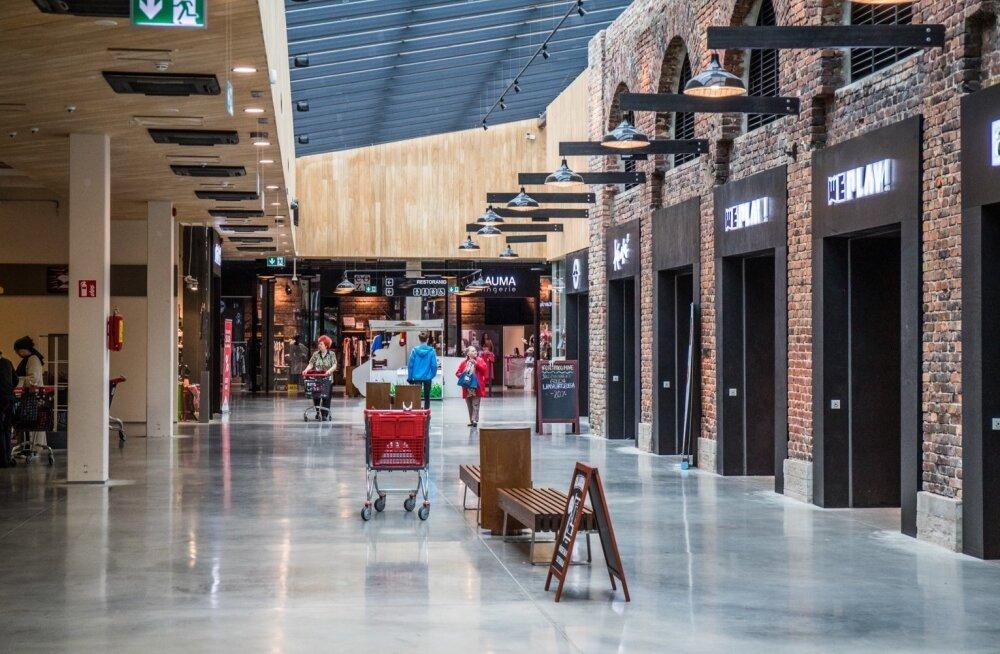 Vähekülastatud Arsenali kaubanduskeskus