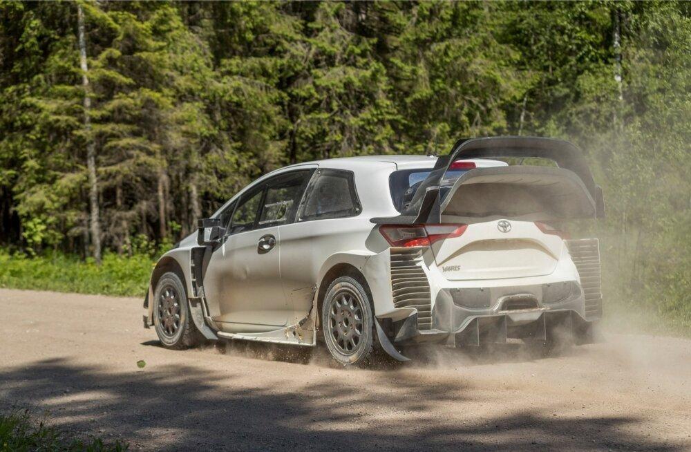 Toyota WRC meeskond alustas testisõite Eestis