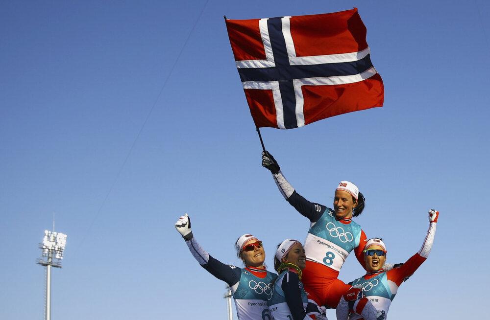 SUUR MEDALIKOKKUVÕTE | Björgen tõstis Norra viimase alaga sakslastest mööda. Kui kaugele jäi OAR?