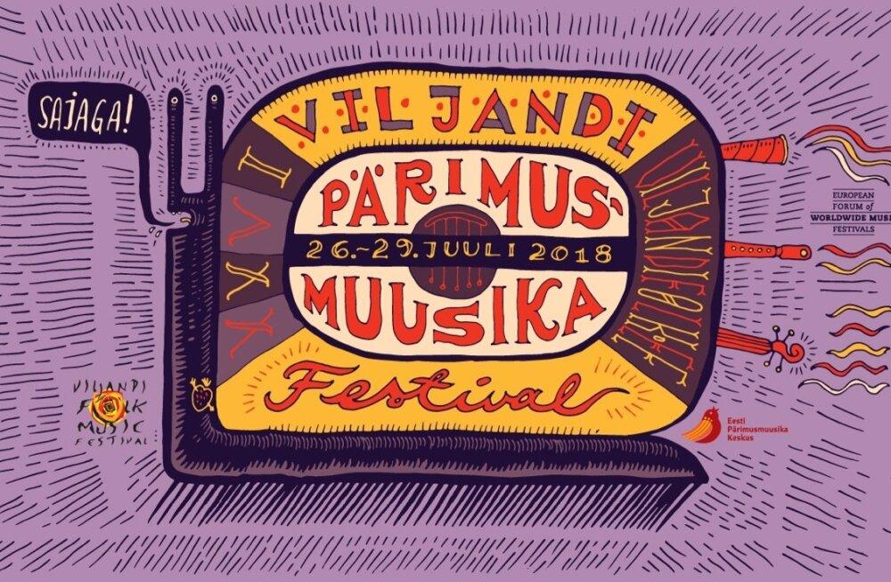 """Viljandi pärimusmuusika festival saab juulikuu lõpus 25aastaseks. Peo teema kannab pealkirja """"Sajaga!""""."""