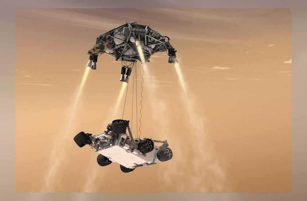 VIDEOD: NASA Curiosity lendas Marsile päikesetormide kiuste