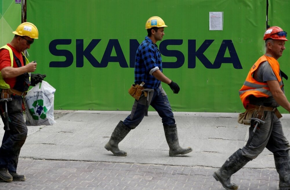 Skanska ehitusplats Varssavis