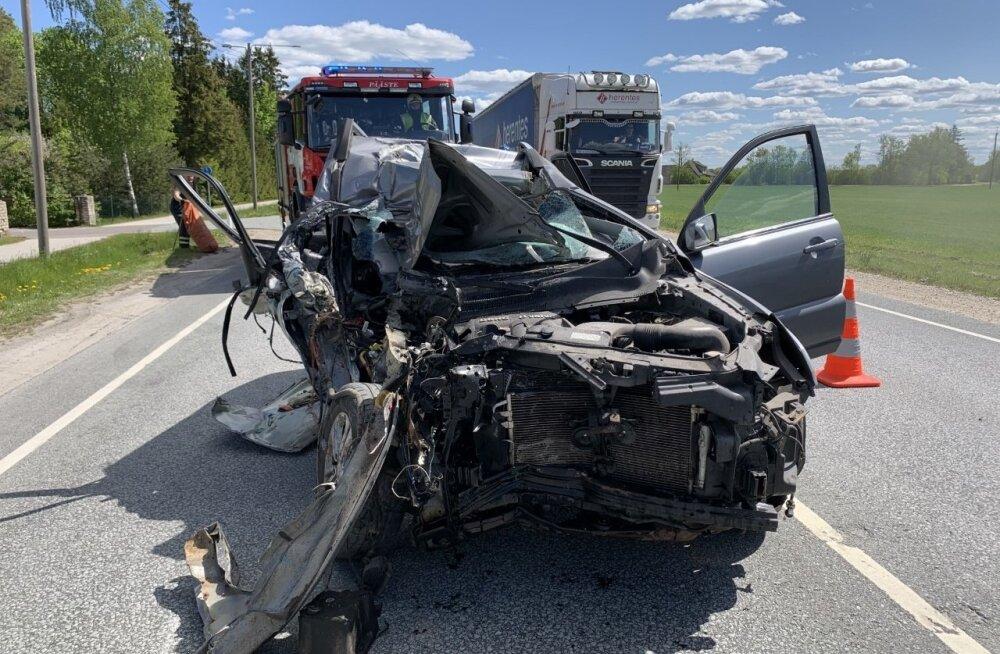 Liiklusõnnetus Tallinn-Tartu maanteel