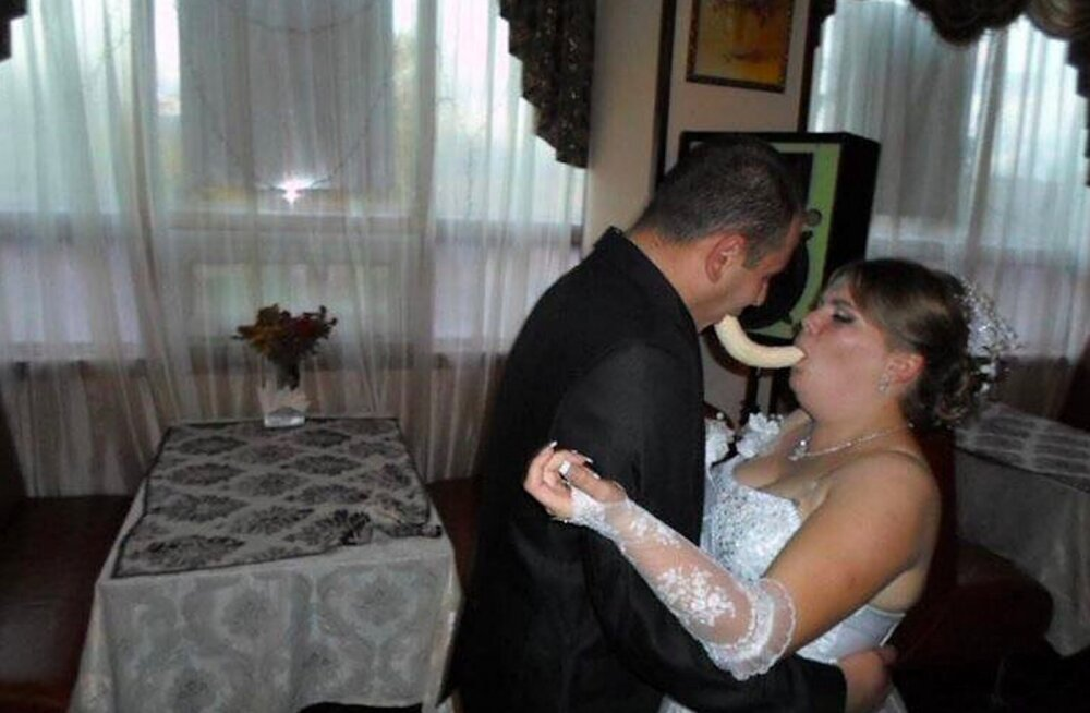 FOTOD | Hirnu herneks! Venelaste pulmapildid näitavad maitsetuse maailmaklassi