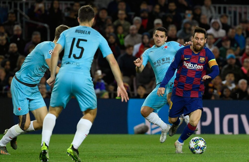 Praha mängumehed pidid teist kohtumist järjest Barcelona ässade käitumises pettuma: Messi ja teised pallurid ei tulnud isegi kätt suruma