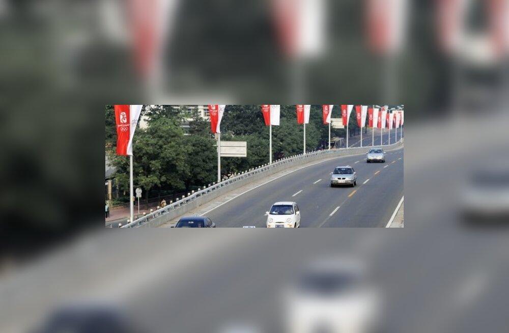 Nii hõredat pilti Hiina teedel enam naljalt ei näe. Foto Ge Gong, Reuters