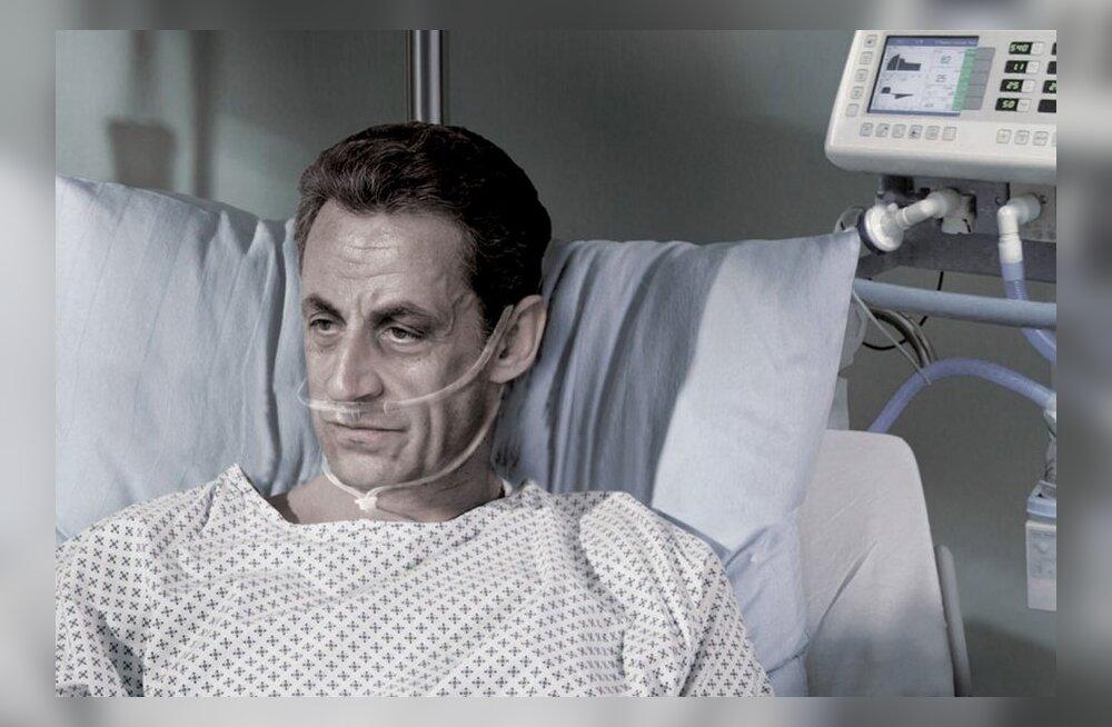 ФОТО: Николя Саркози изобразили в рекламе эвтаназии