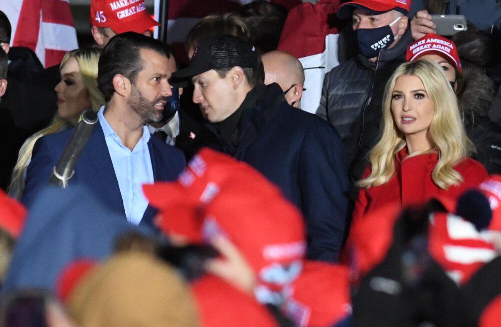 CNN: Trumpi õhutavad kaotusega leppima väimees Jared Kushner ja abikaasa Melania, võitluse jätkamist nõuavad aga pojad