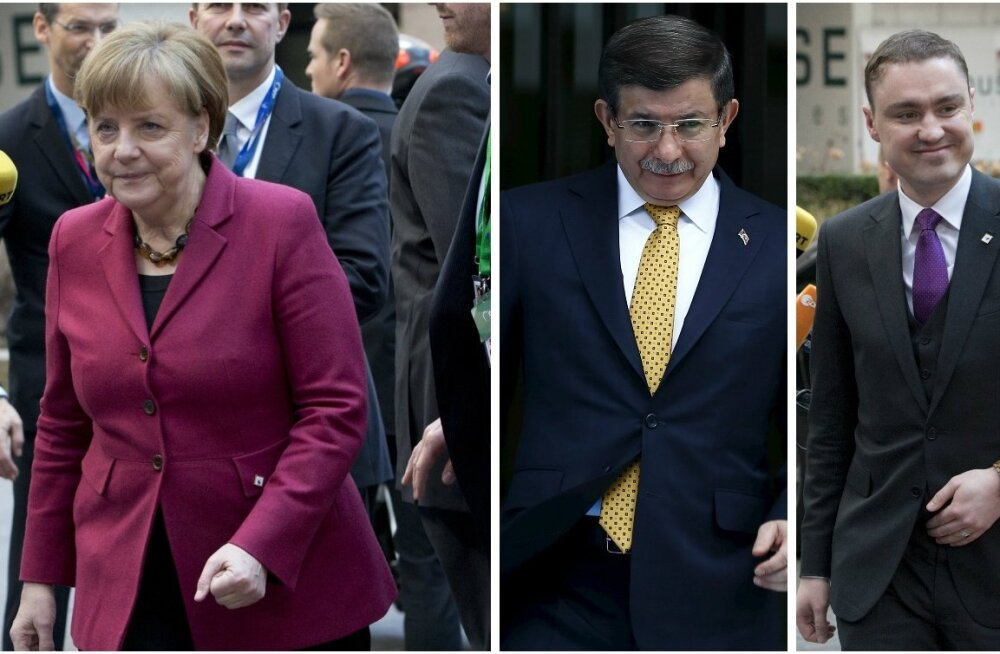 Angela Merkel, Ahmet Davutoğlu, Taavi Rõivas
