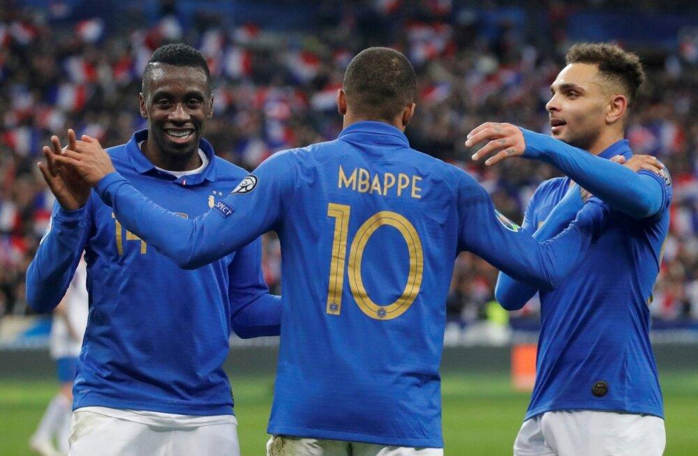 Prantslased lõid neli vastuseta väravat.