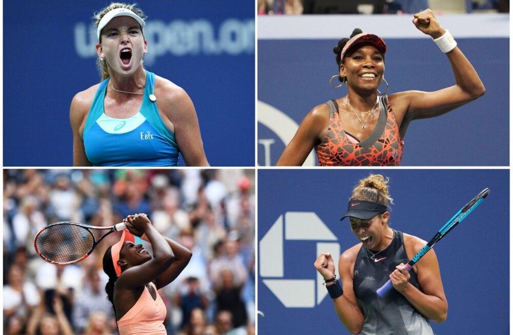 US Openi naisüksikmängu poolfinalistid, kõik ameeriklannad
