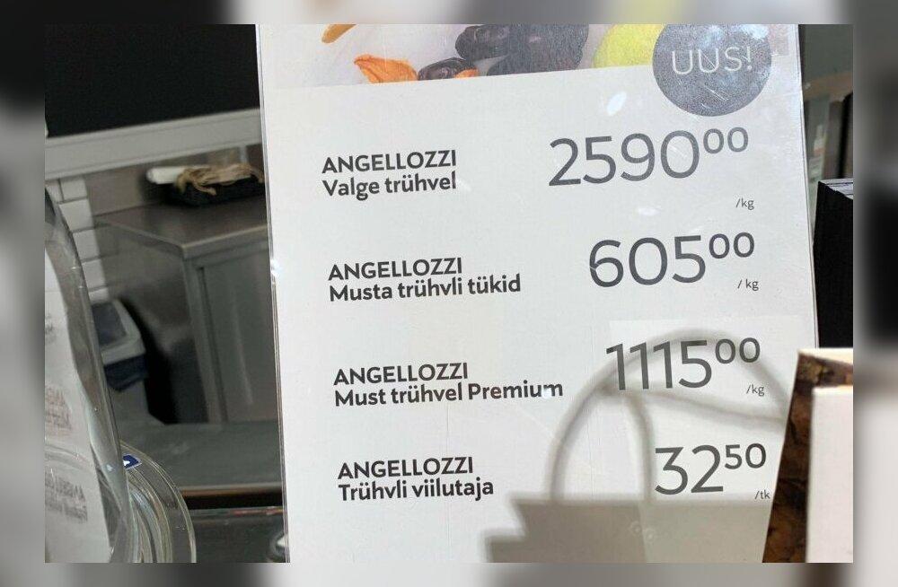 FOTO | Rahakott puuga seljas? Stockmannist saab osta hirmkalli kilohinna eest trühvleid