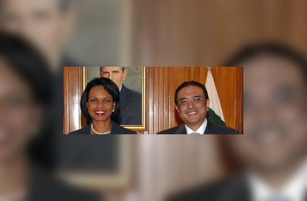 Rice vannutas pakistanlasi terroriste jahtima