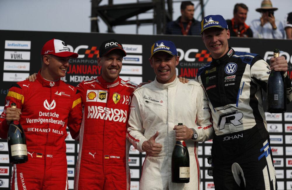 VIDEO | Schumacher ja Vettel võistlesid koos, aga jäid napilt põhjamaalastele alla