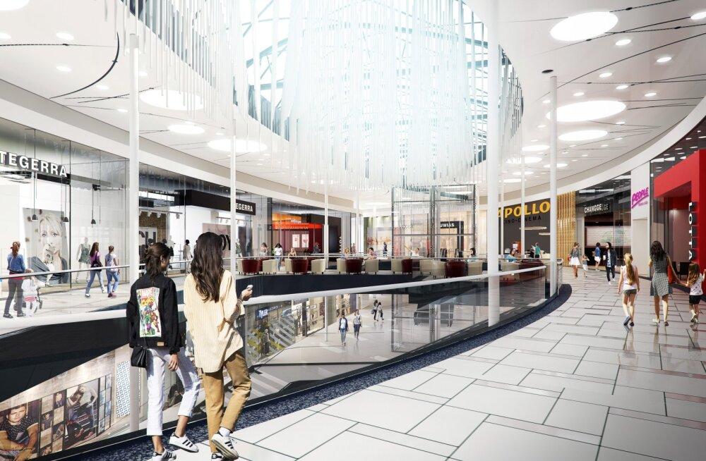 В торговом центре Ülemiste начались работы по расширению