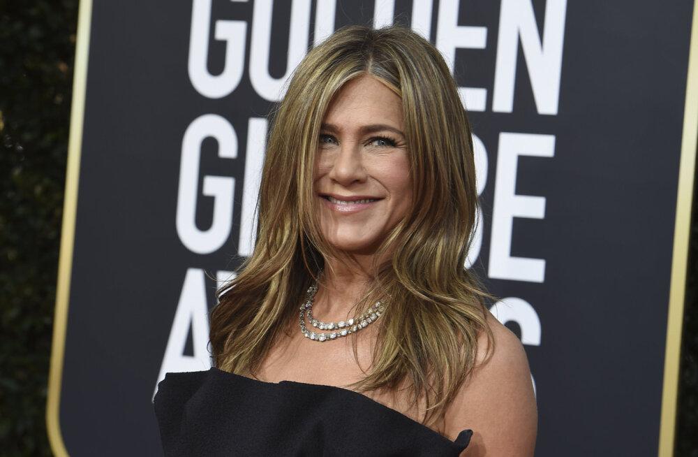 FOTOD   Kas Jennifer Aniston varjab suurt saladust? Näitlejatar pani Kuldgloobustel kõmulehed kihama