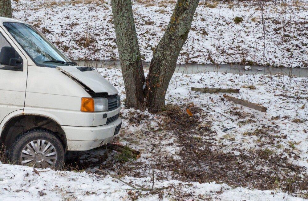Saaremaal, Pihtla vallas sõitis Volkswageni juht teelt välja