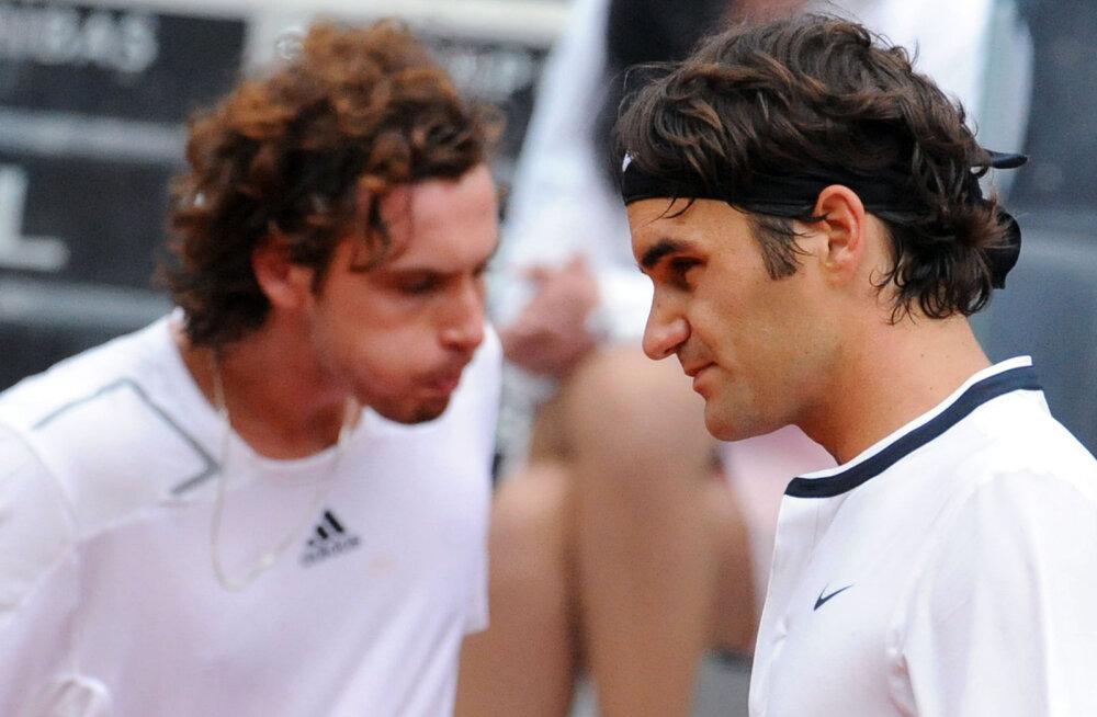Ajalooline matš! Täna õhtul näeb, kuidas lätlaste Ernests Gulbis seljatas Roger Federeri enda