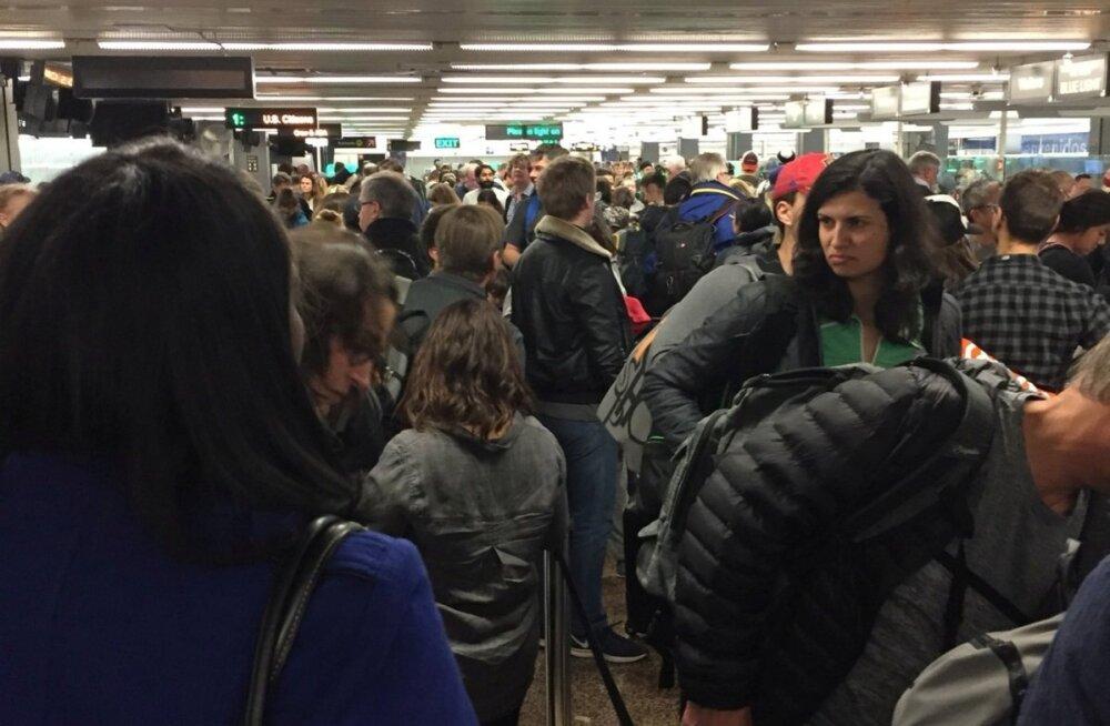 USA lennujaamades ütles ajutiselt üles immigratsiooniteenistuse arvutisüsteem