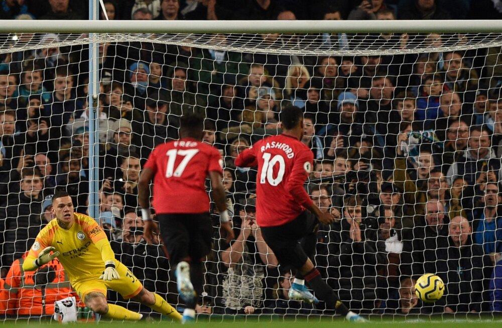 Manchester United šokeeris võõrsil Cityt, Liverpool libiseb aina kaugemale