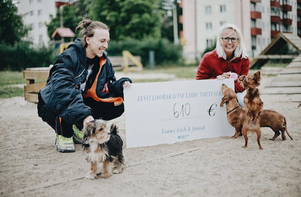 Tommy Cash kogus fännide abiga Eesti Loomakaitse Liidu toetuseks 610 eurot