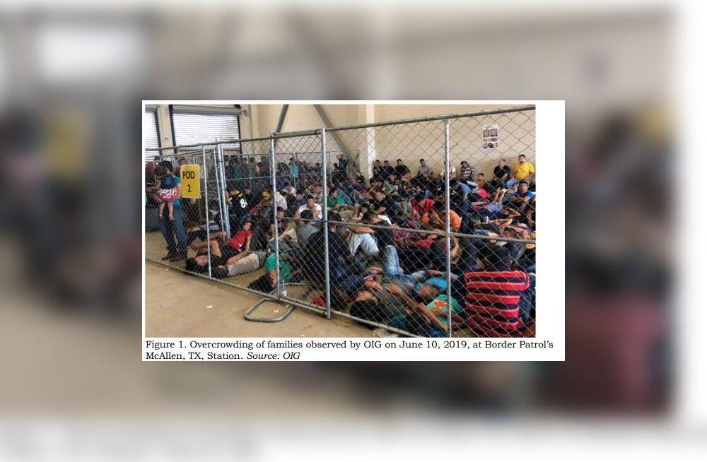 FOTOD | USA sisejuurdlus teatas ohtlikust ülerahvastatusest põgenikekeskustes