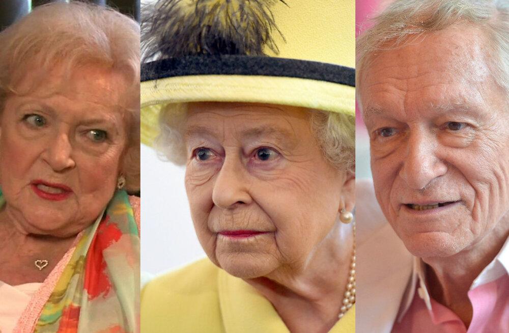Sünge veebisait ennustab: Sel aastal lähevad manalateed kuninganna Elizabeth II, Betty White ja Hugh Hefner