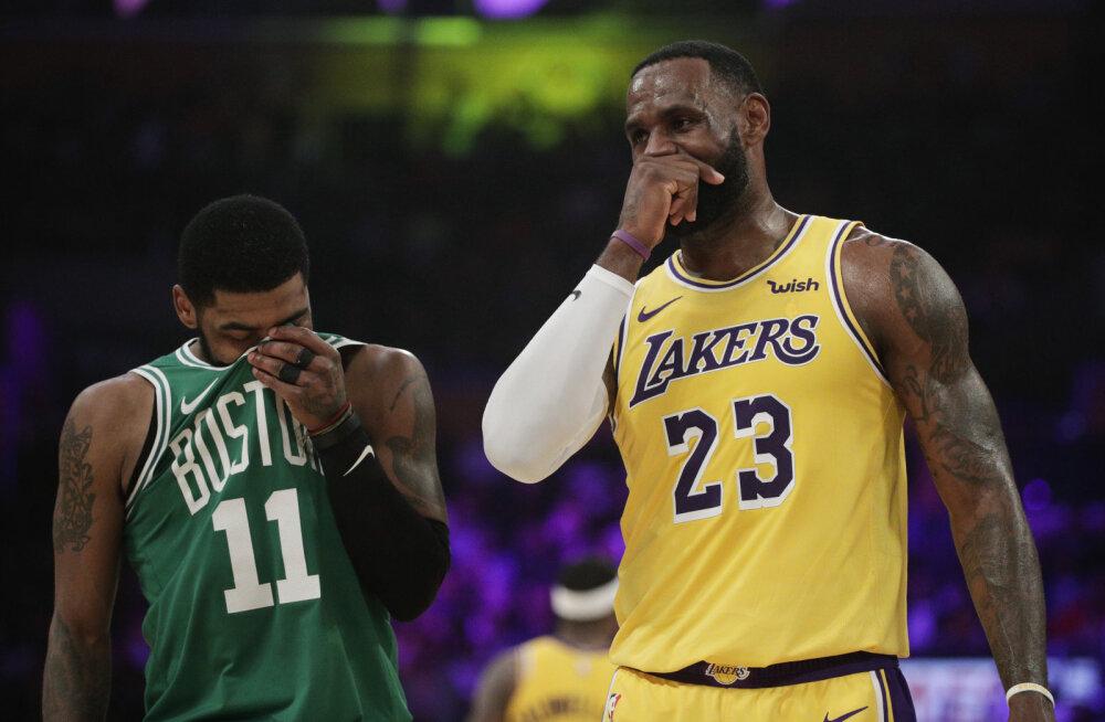VIDEO | Irving vedas Celticsi võidule korraga mitu halba uudist saanud Lakersi üle